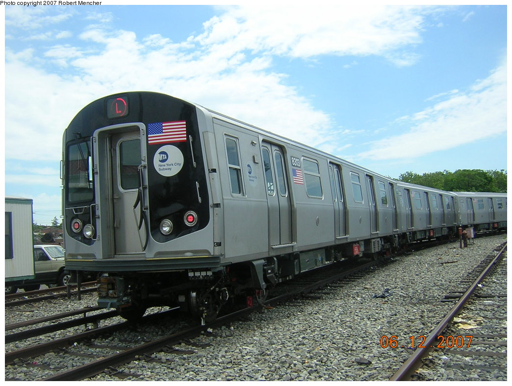 (220k, 1044x788)<br><b>Country:</b> United States<br><b>City:</b> New York<br><b>System:</b> New York City Transit<br><b>Location:</b> Rockaway Parkway (Canarsie) Yard<br><b>Car:</b> R-160A-1 (Alstom, 2005-2008, 4 car sets)  8313 <br><b>Photo by:</b> Robert Mencher<br><b>Date:</b> 6/12/2007<br><b>Viewed (this week/total):</b> 0 / 6490