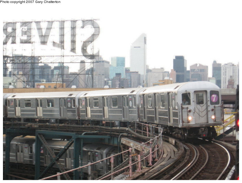 (97k, 820x620)<br><b>Country:</b> United States<br><b>City:</b> New York<br><b>System:</b> New York City Transit<br><b>Line:</b> IRT Flushing Line<br><b>Location:</b> Queensborough Plaza <br><b>Route:</b> 7<br><b>Car:</b> R-62A (Bombardier, 1984-1987)  2121 <br><b>Photo by:</b> Gary Chatterton<br><b>Date:</b> 6/10/2007<br><b>Viewed (this week/total):</b> 0 / 1243