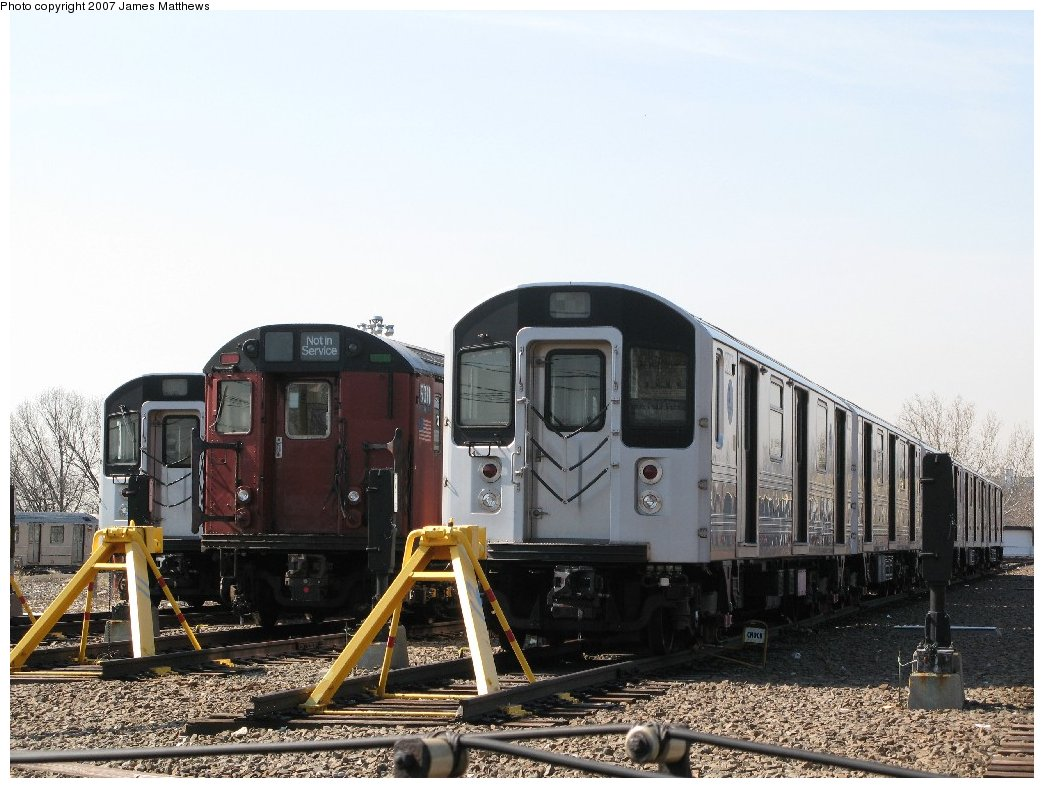 (163k, 1044x788)<br><b>Country:</b> United States<br><b>City:</b> New York<br><b>System:</b> New York City Transit<br><b>Location:</b> 239th Street Yard<br><b>Car:</b> R-110A (Kawasaki, 1992) 8010 <br><b>Photo by:</b> James Matthews<br><b>Date:</b> 4/11/2007<br><b>Viewed (this week/total):</b> 1 / 6446