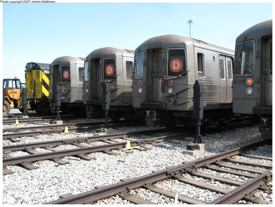 (227k, 1044x788)<br><b>Country:</b> United States<br><b>City:</b> New York<br><b>System:</b> New York City Transit<br><b>Location:</b> Coney Island Yard<br><b>Car:</b> R-68/R-68A Series (Number Unknown)  <br><b>Photo by:</b> James Matthews<br><b>Date:</b> 4/24/2007<br><b>Notes:</b> Stillwell Yard<br><b>Viewed (this week/total):</b> 1 / 1738
