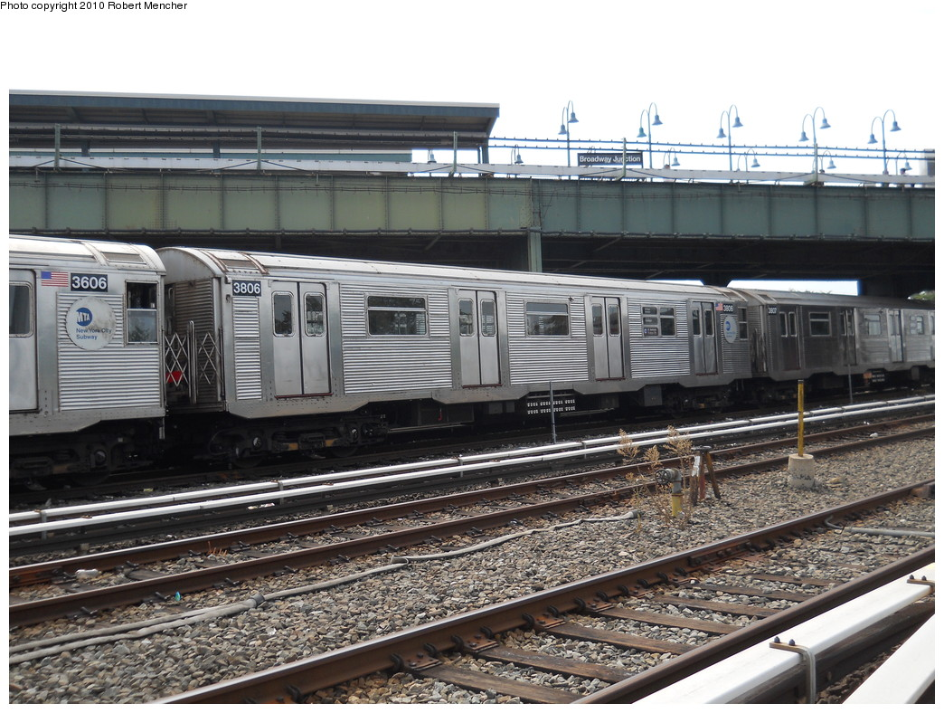 (311k, 1044x788)<br><b>Country:</b> United States<br><b>City:</b> New York<br><b>System:</b> New York City Transit<br><b>Location:</b> East New York Yard/Shops<br><b>Car:</b> R-32 (Budd, 1964)  3806 <br><b>Photo by:</b> Robert Mencher<br><b>Date:</b> 8/9/2010<br><b>Viewed (this week/total):</b> 2 / 376