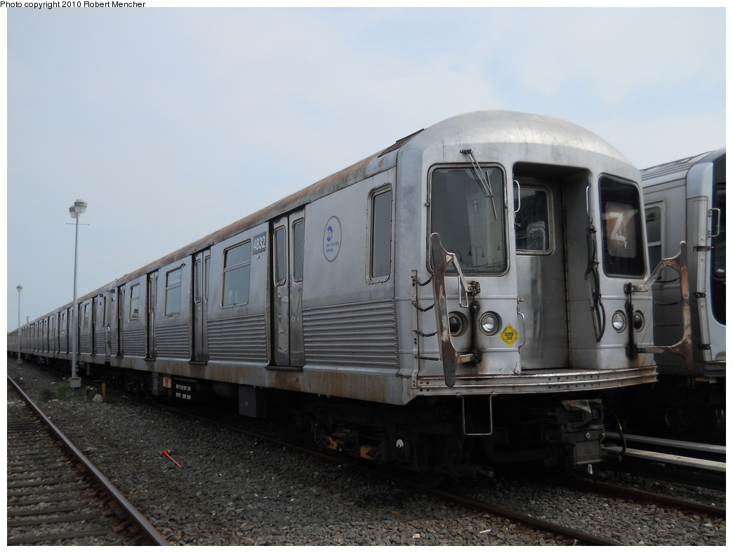 (219k, 1044x788)<br><b>Country:</b> United States<br><b>City:</b> New York<br><b>System:</b> New York City Transit<br><b>Location:</b> East New York Yard/Shops<br><b>Car:</b> R-42 (St. Louis, 1969-1970)  4832 <br><b>Photo by:</b> Robert Mencher<br><b>Date:</b> 8/9/2010<br><b>Viewed (this week/total):</b> 2 / 209
