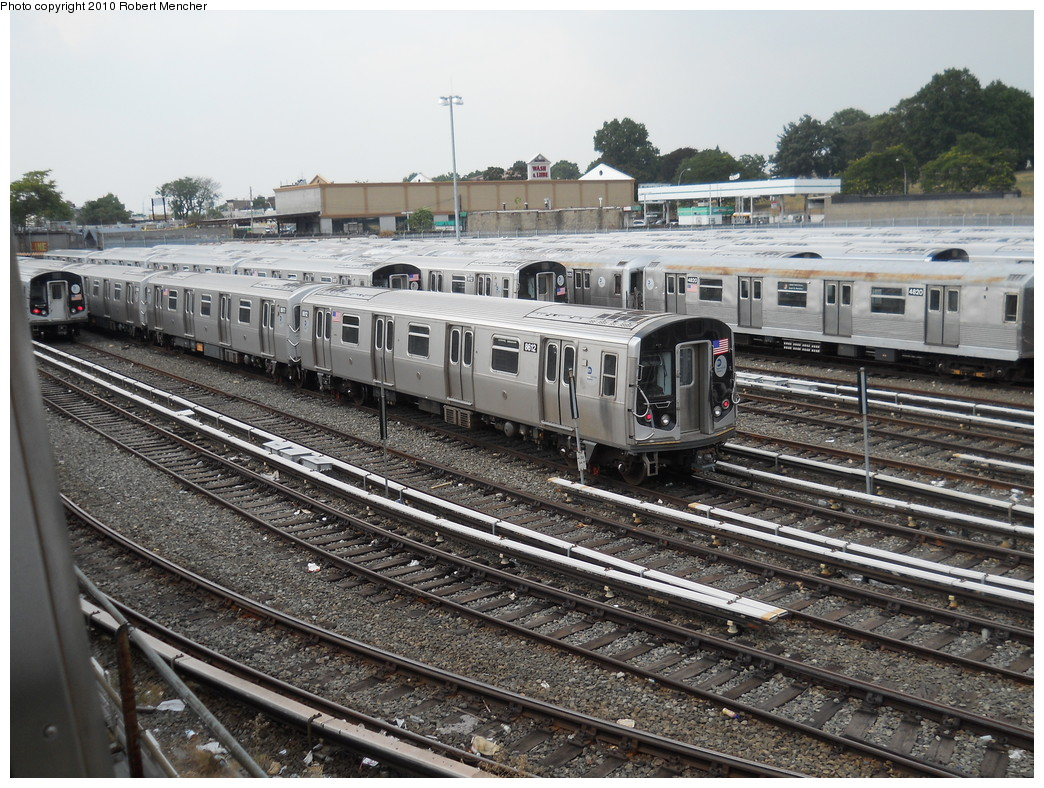 (335k, 1044x788)<br><b>Country:</b> United States<br><b>City:</b> New York<br><b>System:</b> New York City Transit<br><b>Location:</b> East New York Yard/Shops<br><b>Car:</b> R-160A-1 (Alstom, 2005-2008, 4 car sets)  8612 <br><b>Photo by:</b> Robert Mencher<br><b>Date:</b> 8/10/2010<br><b>Viewed (this week/total):</b> 1 / 557