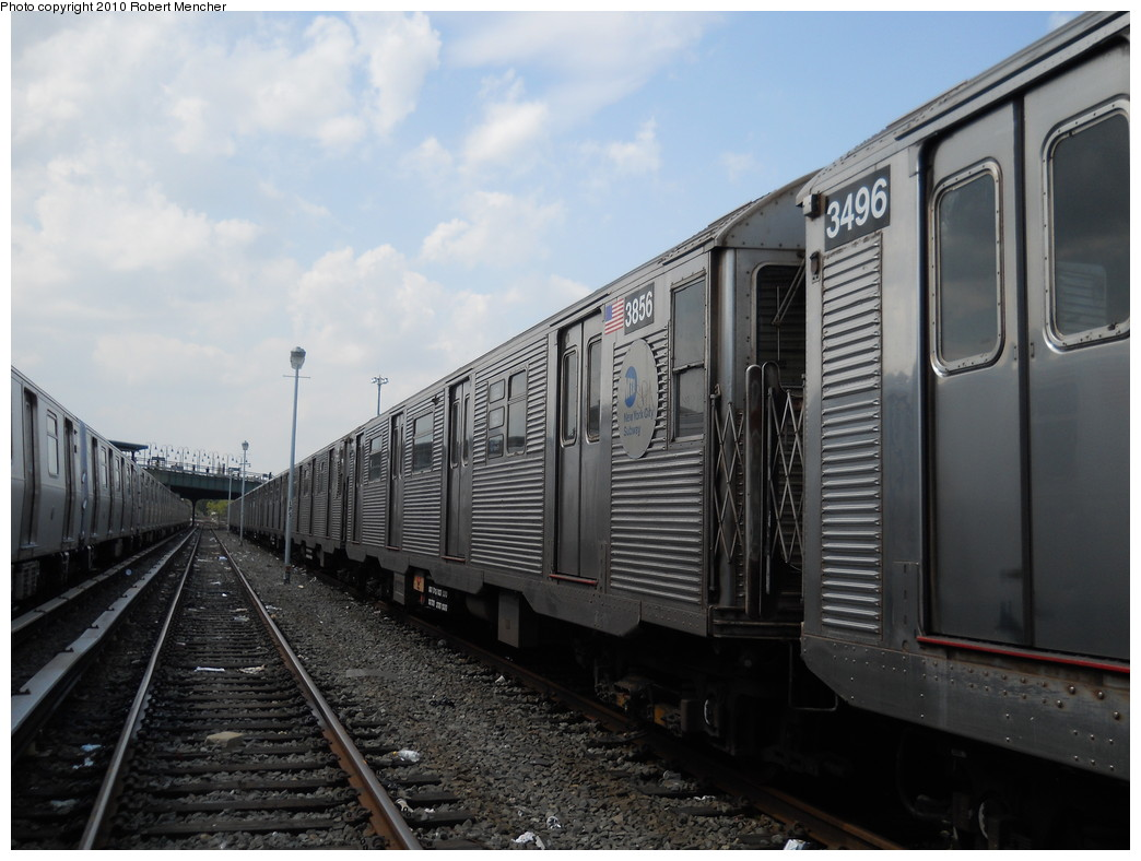 (242k, 1044x788)<br><b>Country:</b> United States<br><b>City:</b> New York<br><b>System:</b> New York City Transit<br><b>Location:</b> East New York Yard/Shops<br><b>Car:</b> R-32 (Budd, 1964)  3856 <br><b>Photo by:</b> Robert Mencher<br><b>Date:</b> 8/11/2010<br><b>Viewed (this week/total):</b> 1 / 266