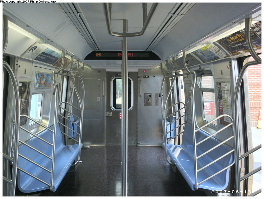 (187k, 1044x788)<br><b>Country:</b> United States<br><b>City:</b> New York<br><b>System:</b> New York City Transit<br><b>Location:</b> Coney Island/Stillwell Avenue<br><b>Route:</b> N<br><b>Car:</b> R-160B (Kawasaki, 2005-2008)  8723 <br><b>Photo by:</b> Philip D'Allesandro<br><b>Date:</b> 6/13/2007<br><b>Viewed (this week/total):</b> 0 / 2575