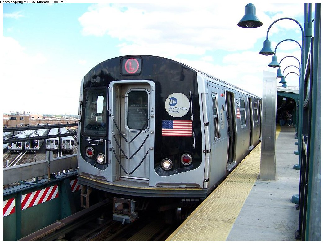 (183k, 1044x788)<br><b>Country:</b> United States<br><b>City:</b> New York<br><b>System:</b> New York City Transit<br><b>Line:</b> BMT Canarsie Line<br><b>Location:</b> Rockaway Parkway <br><b>Route:</b> L<br><b>Car:</b> R-143 (Kawasaki, 2001-2002) 8236 <br><b>Photo by:</b> Michael Hodurski<br><b>Date:</b> 6/22/2007<br><b>Viewed (this week/total):</b> 3 / 2029