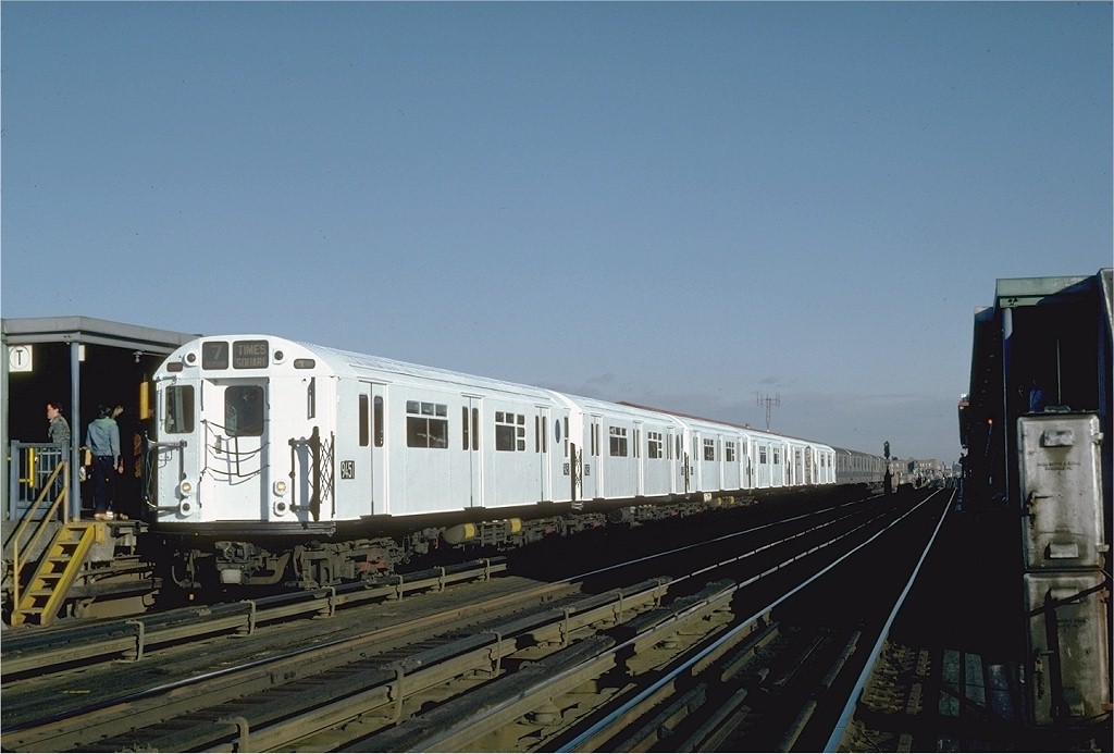 (157k, 1024x693)<br><b>Country:</b> United States<br><b>City:</b> New York<br><b>System:</b> New York City Transit<br><b>Line:</b> IRT Flushing Line<br><b>Location:</b> 74th Street/Broadway <br><b>Route:</b> 7<br><b>Car:</b> R-36 World's Fair (St. Louis, 1963-64) 9451 <br><b>Photo by:</b> Steve Zabel<br><b>Collection of:</b> Joe Testagrose<br><b>Date:</b> 12/11/1981<br><b>Viewed (this week/total):</b> 1 / 2457