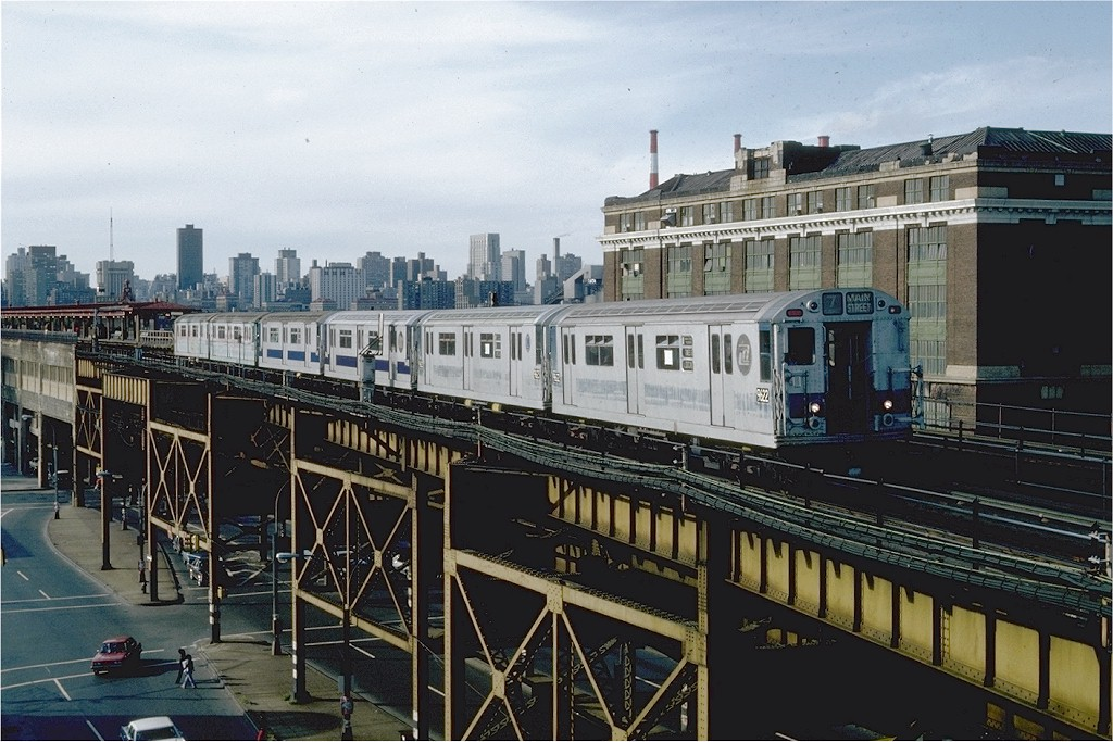 (214k, 1024x683)<br><b>Country:</b> United States<br><b>City:</b> New York<br><b>System:</b> New York City Transit<br><b>Line:</b> IRT Flushing Line<br><b>Location:</b> Queensborough Plaza <br><b>Route:</b> 7<br><b>Car:</b> R-36 World's Fair (St. Louis, 1963-64) 9622 <br><b>Photo by:</b> Steve Zabel<br><b>Collection of:</b> Joe Testagrose<br><b>Date:</b> 10/4/1981<br><b>Viewed (this week/total):</b> 2 / 2193