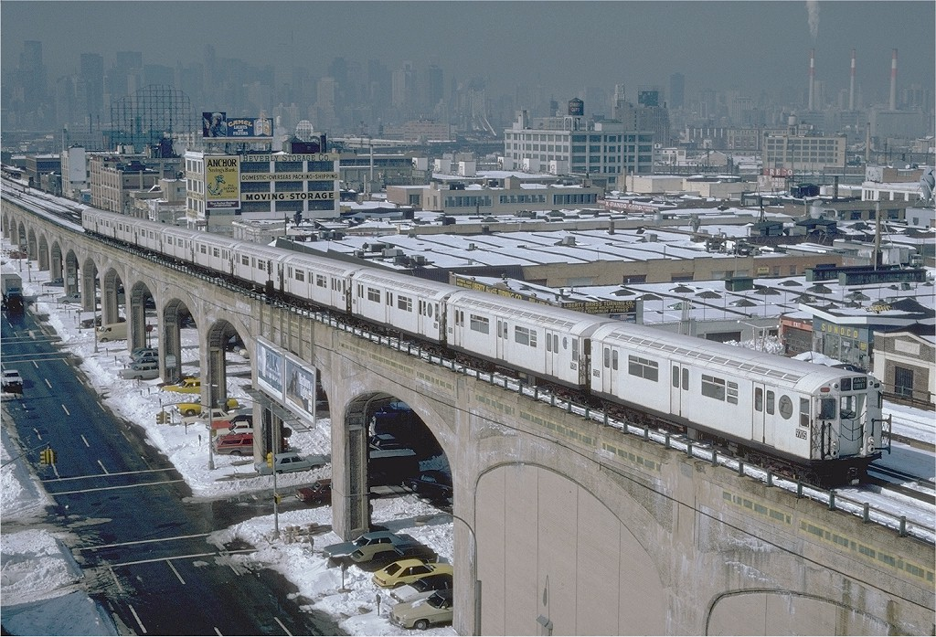 (265k, 1024x697)<br><b>Country:</b> United States<br><b>City:</b> New York<br><b>System:</b> New York City Transit<br><b>Line:</b> IRT Flushing Line<br><b>Location:</b> 40th Street/Lowery Street <br><b>Route:</b> 7<br><b>Car:</b> R-36 World's Fair (St. Louis, 1963-64) 9705 <br><b>Photo by:</b> Steve Zabel<br><b>Collection of:</b> Joe Testagrose<br><b>Date:</b> 2/13/1983<br><b>Viewed (this week/total):</b> 3 / 3368