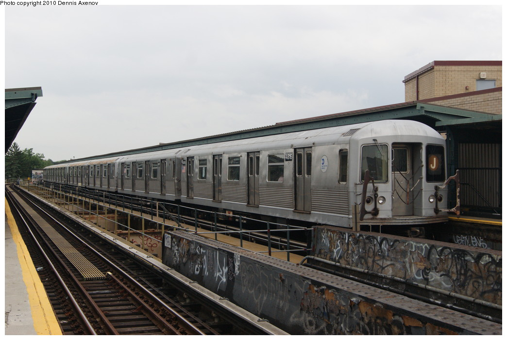 (228k, 1044x701)<br><b>Country:</b> United States<br><b>City:</b> New York<br><b>System:</b> New York City Transit<br><b>Line:</b> BMT Nassau Street/Jamaica Line<br><b>Location:</b> Cypress Hills <br><b>Route:</b> J<br><b>Car:</b> R-42 (St. Louis, 1969-1970)  4816 <br><b>Photo by:</b> Dennis Axenov<br><b>Date:</b> 7/14/2010<br><b>Viewed (this week/total):</b> 4 / 841