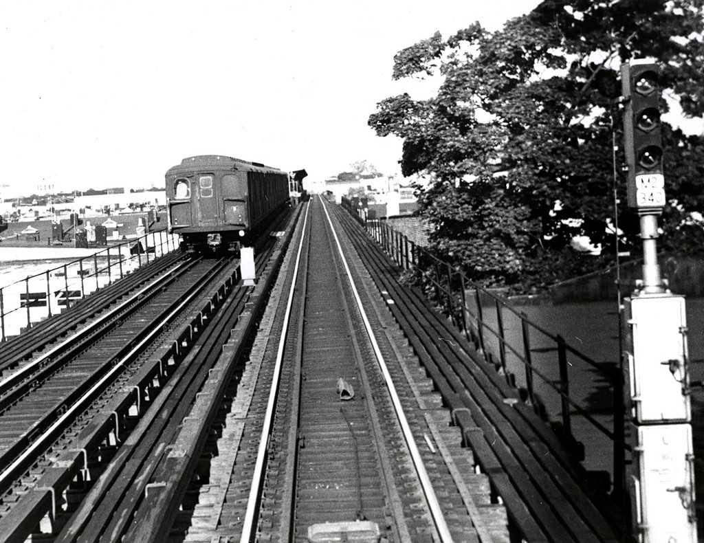 (245k, 1024x790)<br><b>Country:</b> United States<br><b>City:</b> New York<br><b>System:</b> New York City Transit<br><b>Line:</b> BMT Myrtle Avenue Line<br><b>Location:</b> Forest Avenue <br><b>Car:</b> BMT A/B-Type Standard  <br><b>Collection of:</b> George Conrad Collection<br><b>Date:</b> 6/20/1968<br><b>Viewed (this week/total):</b> 3 / 1437