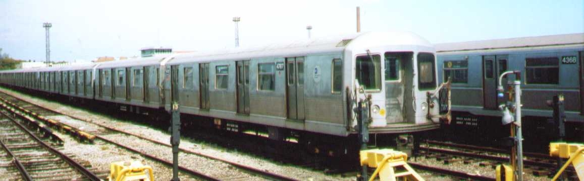 (114k, 1157x360)<br><b>Country:</b> United States<br><b>City:</b> New York<br><b>System:</b> New York City Transit<br><b>Location:</b> Coney Island Yard<br><b>Car:</b> R-42 (St. Louis, 1969-1970)  4787 <br><b>Photo by:</b> Bob Wright<br><b>Date:</b> 9/22/2002<br><b>Viewed (this week/total):</b> 0 / 1287