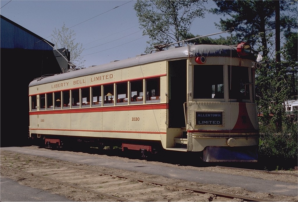 (255k, 1024x693)<br><b>Country:</b> United States<br><b>City:</b> Kennebunk, ME<br><b>System:</b> Seashore Trolley Museum <br><b>Car:</b> Lehigh Valley 1030 <br><b>Photo by:</b> Gerald H. Landau<br><b>Collection of:</b> Joe Testagrose<br><b>Date:</b> 5/24/1981<br><b>Viewed (this week/total):</b> 0 / 580
