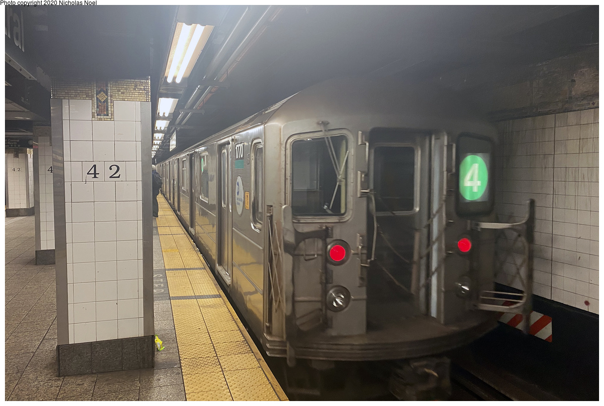 (162k, 1024x728)<br><b>Country:</b> United States<br><b>City:</b> New York<br><b>System:</b> New York City Transit<br><b>Line:</b> IND Fulton Street Line<br><b>Location:</b> Rockaway Boulevard <br><b>Route:</b> A<br><b>Car:</b> R-42 (St. Louis, 1969-1970)   <br><b>Collection of:</b> George Conrad Collection<br><b>Date:</b> 7/4/1969<br><b>Viewed (this week/total):</b> 1 / 3792
