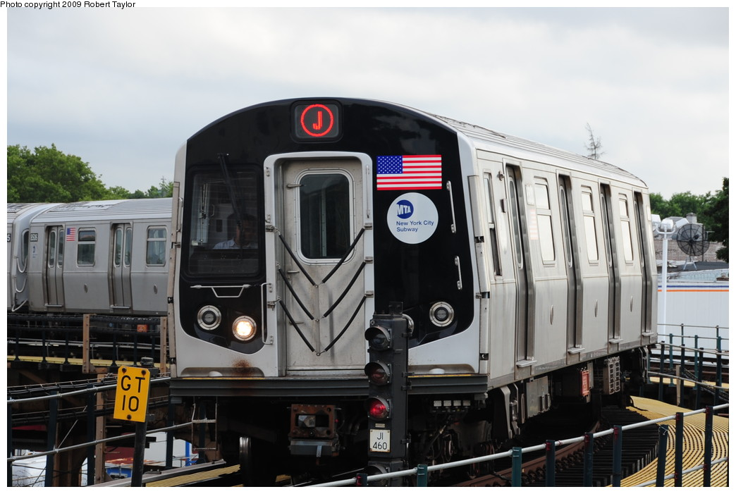 (231k, 1044x701)<br><b>Country:</b> United States<br><b>City:</b> New York<br><b>System:</b> New York City Transit<br><b>Line:</b> BMT Nassau Street/Jamaica Line<br><b>Location:</b> Cypress Hills <br><b>Route:</b> J<br><b>Car:</b> R-160A-1 (Alstom, 2005-2008, 4 car sets)  8508 <br><b>Photo by:</b> Robert Taylor<br><b>Date:</b> 8/2/2009<br><b>Viewed (this week/total):</b> 1 / 1305