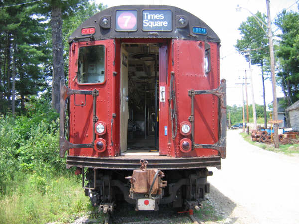 (57k, 600x450)<br><b>Country:</b> United States<br><b>City:</b> Kennebunk, ME<br><b>System:</b> Seashore Trolley Museum <br><b>Car:</b> R-33 World's Fair (St. Louis, 1963-64) 9327 <br><b>Photo by:</b> Professor J<br><b>Date:</b> 7/14/2007<br><b>Viewed (this week/total):</b> 1 / 1047
