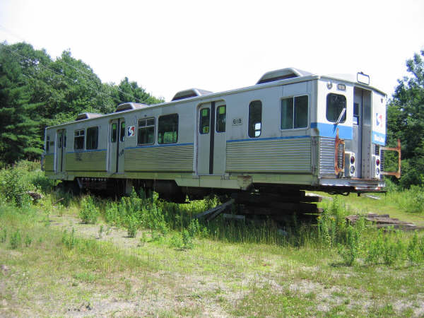 (49k, 600x450)<br><b>Country:</b> United States<br><b>City:</b> Kennebunk, ME<br><b>System:</b> Seashore Trolley Museum <br><b>Car:</b> SEPTA M-3 (Budd, 1960) 618 <br><b>Photo by:</b> Professor J<br><b>Date:</b> 7/14/2007<br><b>Viewed (this week/total):</b> 5 / 1216