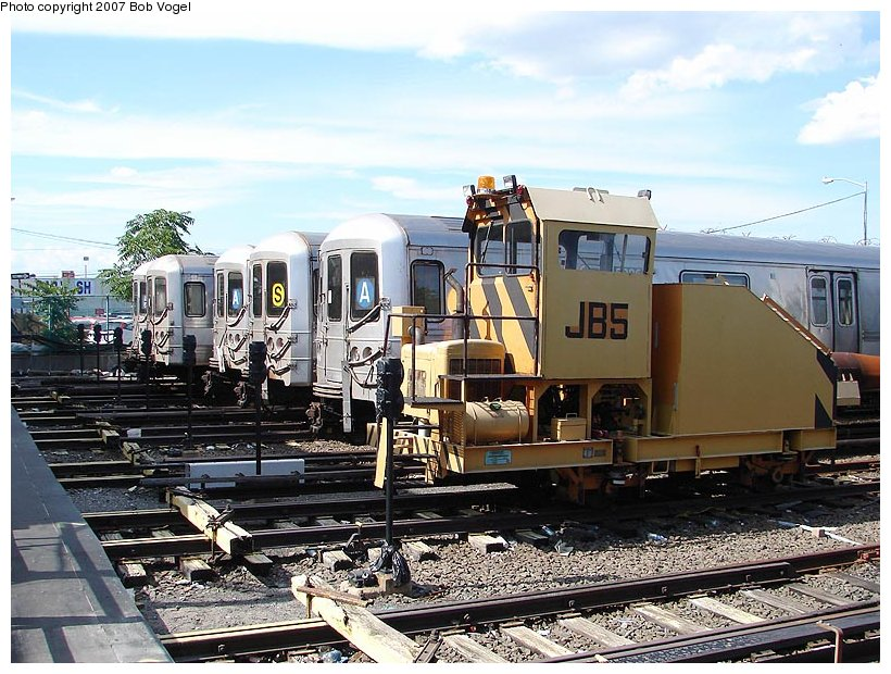 (141k, 820x620)<br><b>Country:</b> United States<br><b>City:</b> New York<br><b>System:</b> New York City Transit<br><b>Location:</b> Rockaway Park Yard<br><b>Car:</b> Snowblower JB5 <br><b>Photo by:</b> Bob Vogel<br><b>Date:</b> 7/22/2007<br><b>Viewed (this week/total):</b> 3 / 1519