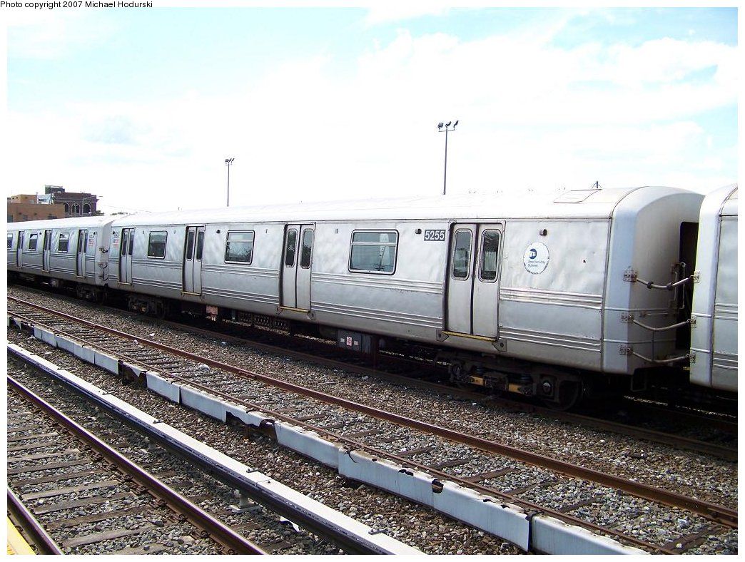 (220k, 1044x788)<br><b>Country:</b> United States<br><b>City:</b> New York<br><b>System:</b> New York City Transit<br><b>Location:</b> Rockaway Park Yard<br><b>Car:</b> R-44 (St. Louis, 1971-73) 5255 <br><b>Photo by:</b> Michael Hodurski<br><b>Date:</b> 7/22/2007<br><b>Viewed (this week/total):</b> 1 / 1862