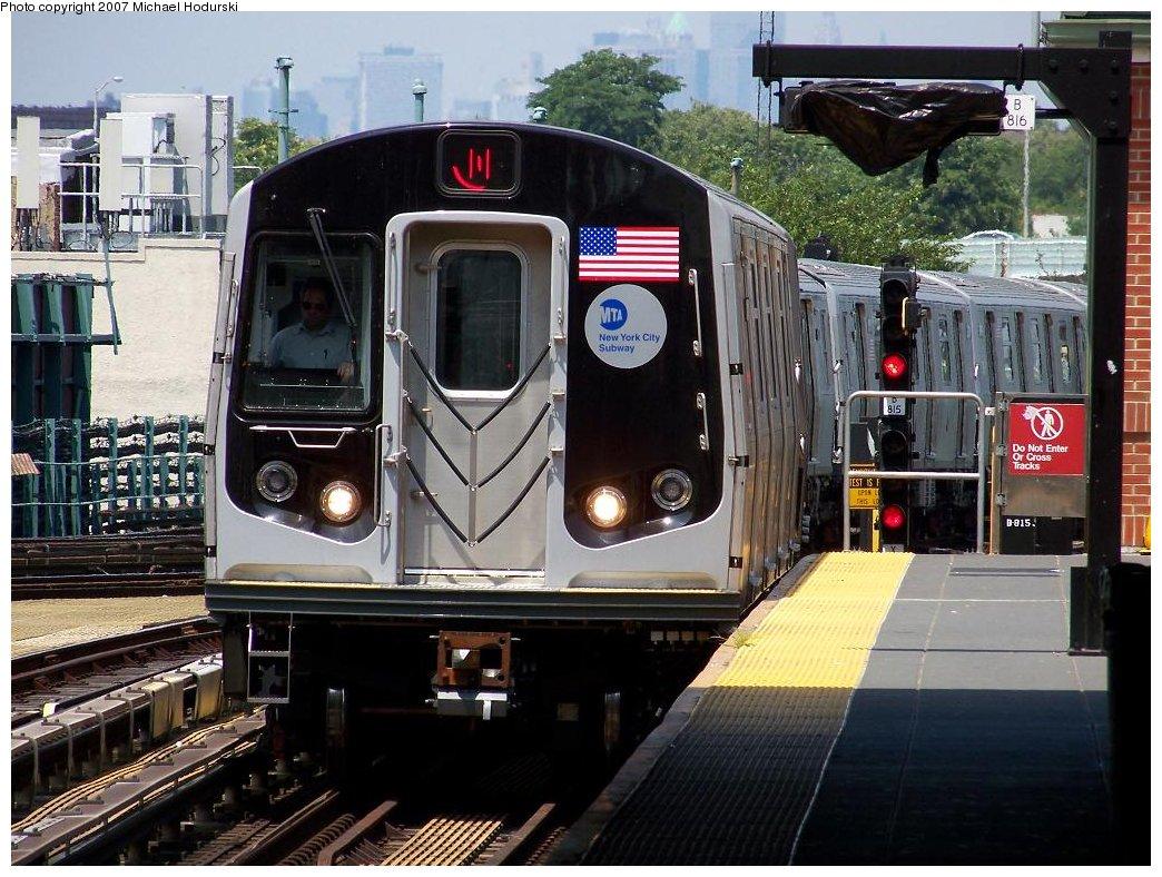 (218k, 1044x788)<br><b>Country:</b> United States<br><b>City:</b> New York<br><b>System:</b> New York City Transit<br><b>Location:</b> Coney Island/Stillwell Avenue<br><b>Route:</b> N<br><b>Car:</b> R-160B (Kawasaki, 2005-2008)  8777 <br><b>Photo by:</b> Michael Hodurski<br><b>Date:</b> 7/26/2007<br><b>Viewed (this week/total):</b> 2 / 3064
