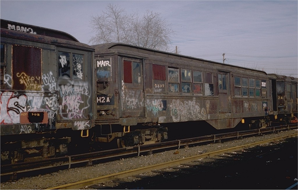 (185k, 1024x654)<br><b>Country:</b> United States<br><b>City:</b> New York<br><b>System:</b> New York City Transit<br><b>Location:</b> Westchester Yard<br><b>Car:</b> Low-V 35337 (ex-5337)<br><b>Photo by:</b> Steve Zabel<br><b>Collection of:</b> Joe Testagrose<br><b>Date:</b> 4/13/1978<br><b>Notes:</b> Work Motor 35337<br><b>Viewed (this week/total):</b> 1 / 2858