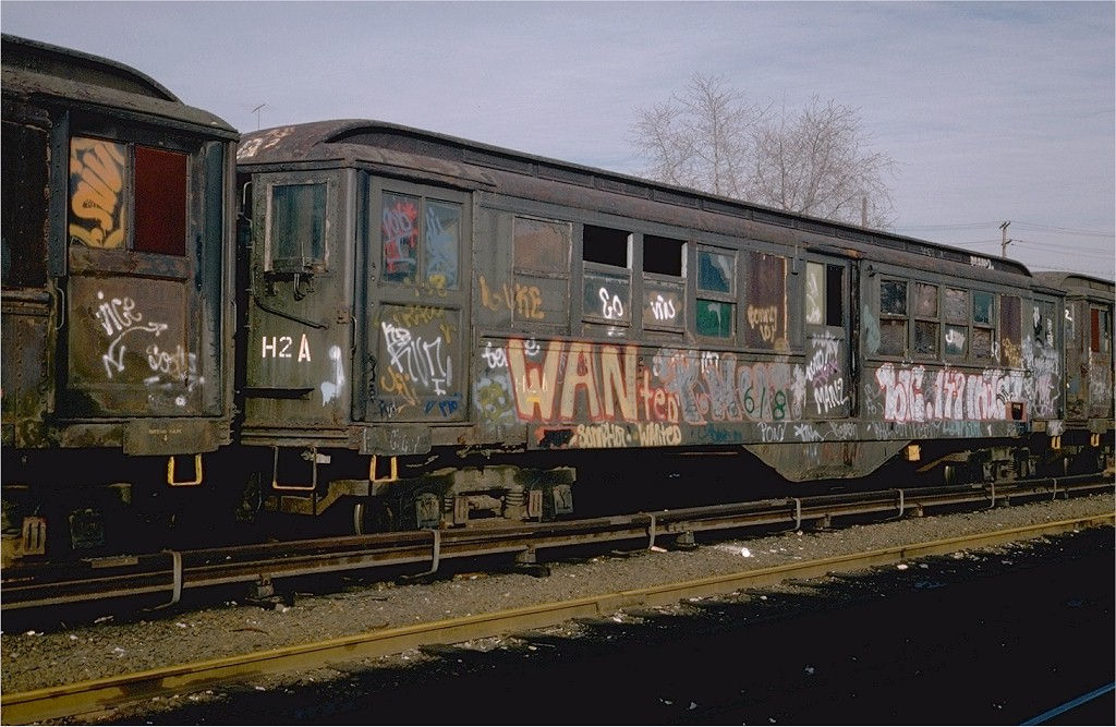 (201k, 1024x667)<br><b>Country:</b> United States<br><b>City:</b> New York<br><b>System:</b> New York City Transit<br><b>Location:</b> Westchester Yard<br><b>Car:</b> Low-V 35356 (ex-5356)<br><b>Photo by:</b> Steve Zabel<br><b>Collection of:</b> Joe Testagrose<br><b>Date:</b> 4/13/1978<br><b>Notes:</b> Work Motor 35356<br><b>Viewed (this week/total):</b> 0 / 2927