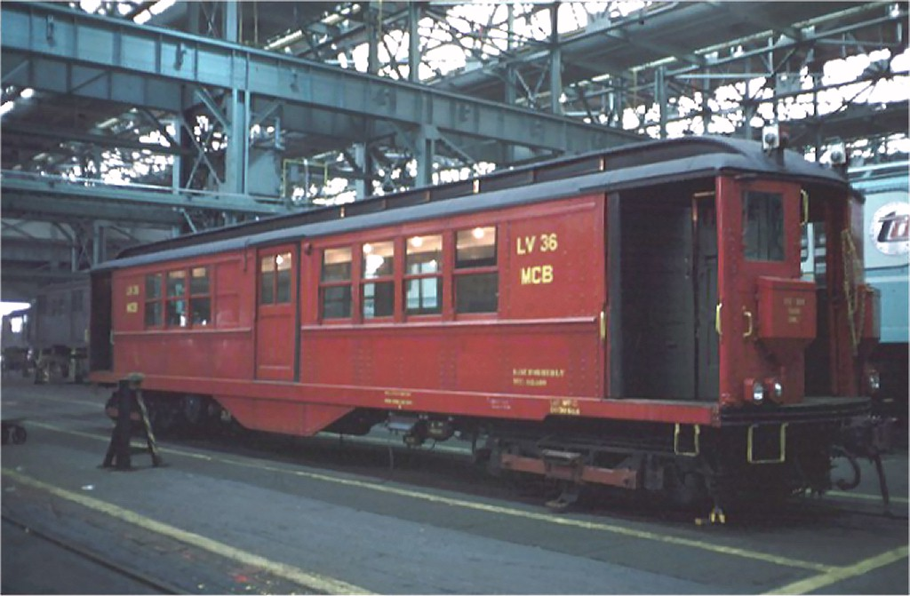 (144k, 1024x671)<br><b>Country:</b> United States<br><b>City:</b> New York<br><b>System:</b> New York City Transit<br><b>Location:</b> Coney Island Shop/Overhaul & Repair Shop<br><b>Car:</b> Low-V LV36 (ex-5457)<br><b>Photo by:</b> Doug Grotjahn<br><b>Collection of:</b> Joe Testagrose<br><b>Date:</b> 10/13/1968<br><b>Viewed (this week/total):</b> 0 / 3596