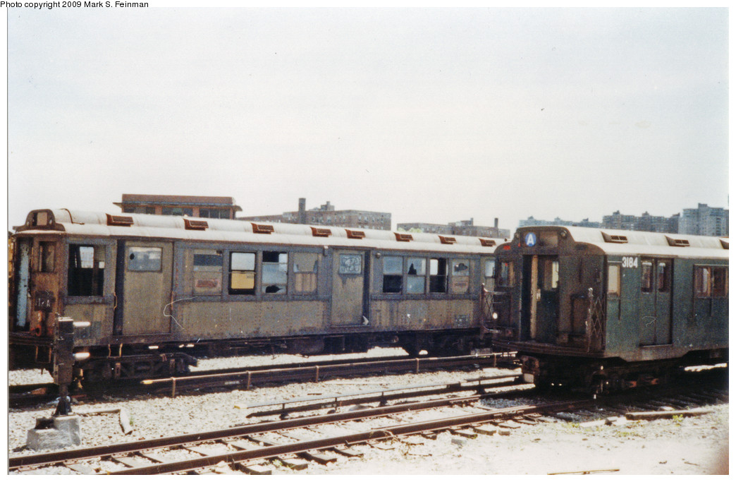 (206k, 1044x683)<br><b>Country:</b> United States<br><b>City:</b> New York<br><b>System:</b> New York City Transit<br><b>Location:</b> Coney Island Yard-Museum Yard<br><b>Car:</b> Low-V Worlds Fair 5655 <br><b>Photo by:</b> Mark S. Feinman<br><b>Date:</b> 5/30/1993<br><b>Viewed (this week/total):</b> 2 / 4340