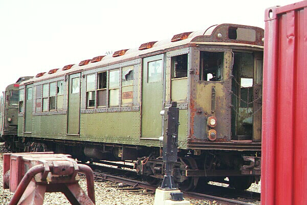 (118k, 600x400)<br><b>Country:</b> United States<br><b>City:</b> New York<br><b>System:</b> New York City Transit<br><b>Location:</b> Coney Island Yard-Museum Yard<br><b>Car:</b> Low-V Worlds Fair 5655 <br><b>Photo by:</b> Salaam Allah<br><b>Date:</b> 10/29/2000<br><b>Viewed (this week/total):</b> 0 / 8424