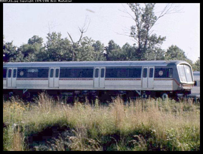 (64k, 660x500)<br><b>Country:</b> United States<br><b>City:</b> Philadelphia, PA<br><b>System:</b> PATCO<br><b>Location:</b> Lindenwold Yard <br><b>Car:</b> SOAC  <br><b>Photo by:</b> Bill Mosteller<br><b>Date:</b> 1977<br><b>Viewed (this week/total):</b> 12 / 7900