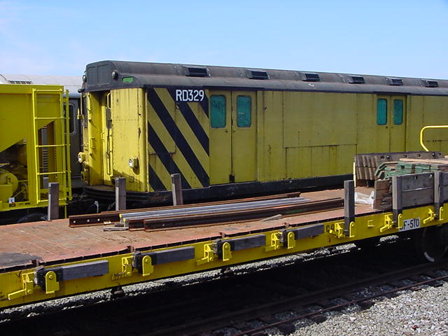 (61k, 640x480)<br><b>Country:</b> United States<br><b>City:</b> New York<br><b>System:</b> New York City Transit<br><b>Location:</b> Coney Island Yard<br><b>Car:</b> R-71 Rider Car (R-17/R-21/R-22 Rebuilds)  RD329 (ex-5861)<br><b>Photo by:</b> Salaam Allah<br><b>Date:</b> 10/29/2000<br><b>Viewed (this week/total):</b> 3 / 3035