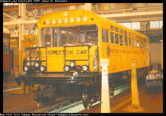 (50k, 540x379)<br><b>Country:</b> United States<br><b>City:</b> New York<br><b>System:</b> New York City Transit<br><b>Location:</b> Coney Island Shop/Overhaul & Repair Shop<br><b>Car:</b> Observation Car 0F116 <br><b>Photo by:</b> Jason R. DeCesare<br><b>Date:</b> 2/24/1996<br><b>Viewed (this week/total):</b> 3 / 4595