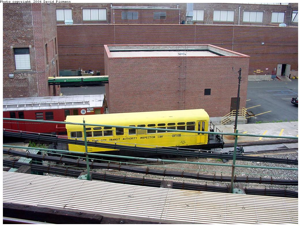 (199k, 1044x788)<br><b>Country:</b> United States<br><b>City:</b> New York<br><b>System:</b> New York City Transit<br><b>Location:</b> Coney Island Yard<br><b>Car:</b> Observation Car 0F116 <br><b>Photo by:</b> David Pirmann<br><b>Date:</b> 6/18/2000<br><b>Viewed (this week/total):</b> 3 / 4726