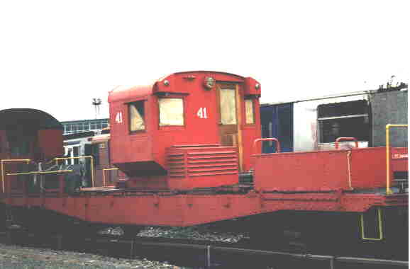 (11k, 578x380)<br><b>Country:</b> United States<br><b>City:</b> New York<br><b>System:</b> New York City Transit<br><b>Location:</b> Coney Island Yard-Museum Yard<br><b>Car:</b> R-3 Motor Flat Car (Drill Motor) (Magor Car, 1932)  41 <br><b>Photo by:</b> Steve Kreisler<br><b>Date:</b> 1998<br><b>Viewed (this week/total):</b> 2 / 3505
