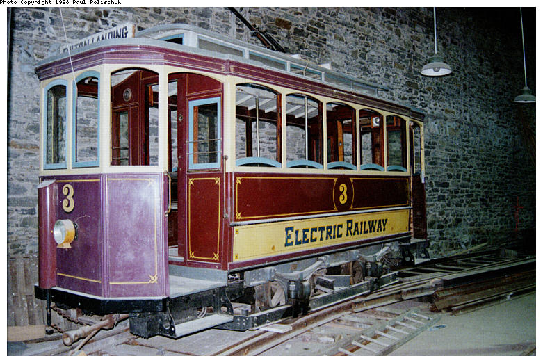 (118k, 781x522)<br><b>Country:</b> United States<br><b>City:</b> New York<br><b>System:</b> Brooklyn Trolley Museum <br><b>Car:</b>  3 <br><b>Photo by:</b> Paul Polischuk<br><b>Date:</b> 1998<br><b>Notes:</b> 1897 trolley<br><b>Viewed (this week/total):</b> 1 / 4566