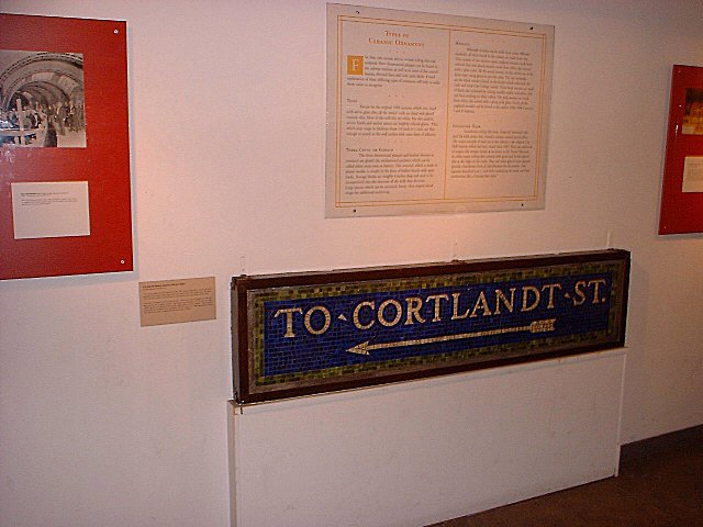 (58k, 640x480)<br><b>Country:</b> United States<br><b>City:</b> New York<br><b>System:</b> New York City Transit<br><b>Location:</b> New York Transit Museum<br><b>Photo by:</b> Peggy Darlington<br><b>Notes:</b> Signage Exhibit<br><b>Viewed (this week/total):</b> 1 / 5529