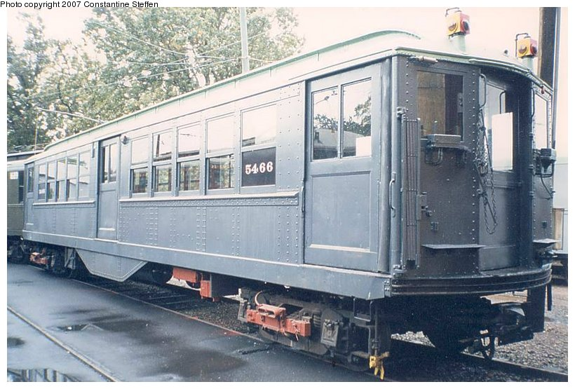 (123k, 820x555)<br><b>Country:</b> United States<br><b>City:</b> East Haven/Branford, Ct.<br><b>System:</b> Shore Line Trolley Museum <br><b>Car:</b> Low-V (Museum Train) 5466 <br><b>Photo by:</b> Constantine Steffan<br><b>Date:</b> 10/10/1998<br><b>Viewed (this week/total):</b> 0 / 1741