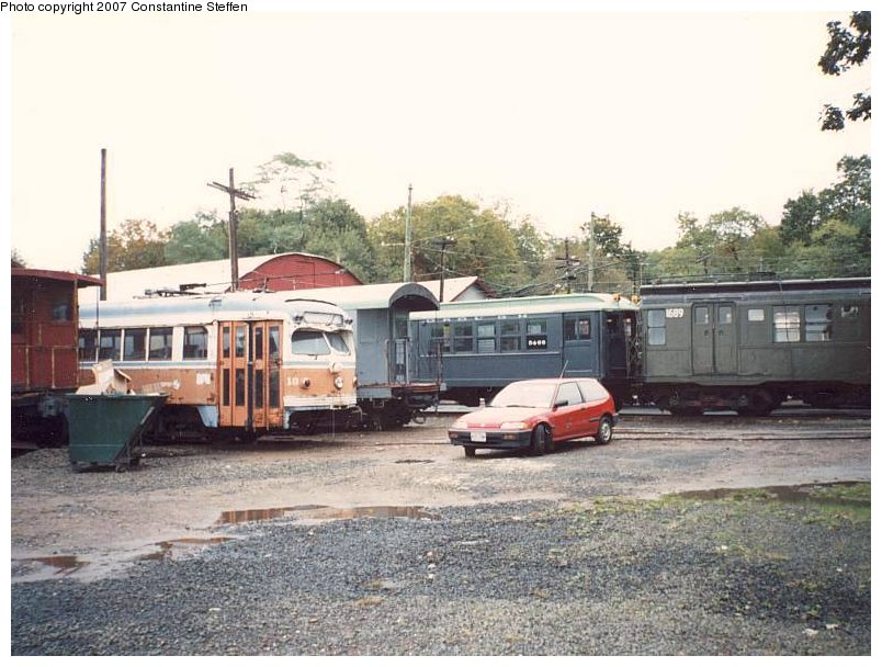 (116k, 804x608)<br><b>Country:</b> United States<br><b>City:</b> East Haven/Branford, Ct.<br><b>System:</b> Shore Line Trolley Museum <br><b>Photo by:</b> Constantine Steffan<br><b>Date:</b> 10/10/1998<br><b>Notes:</b> Philadelphia 18/NYC Supply Car 30127/Low-V 5466/R9 1689<br><b>Viewed (this week/total):</b> 1 / 4411
