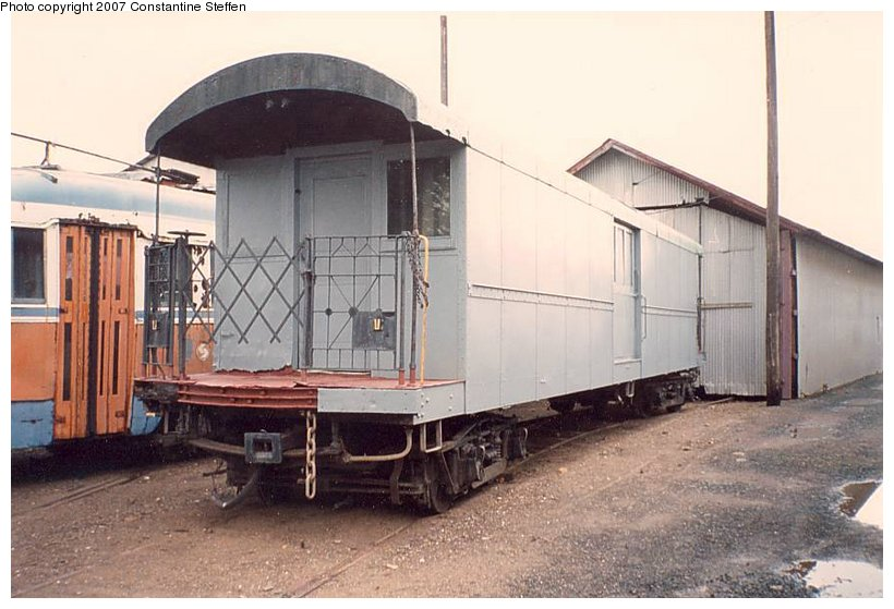 (98k, 820x559)<br><b>Country:</b> United States<br><b>City:</b> East Haven/Branford, Ct.<br><b>System:</b> Shore Line Trolley Museum <br><b>Car:</b> IRT Supply Car (Pressed Steel, 1906)  53 (ex-30127)<br><b>Photo by:</b> Constantine Steffan<br><b>Date:</b> 10/10/1998<br><b>Viewed (this week/total):</b> 3 / 3268