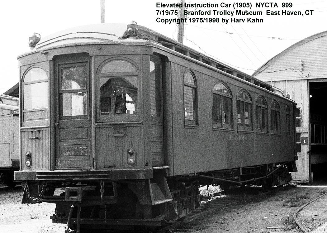 (165k, 1050x748)<br><b>Country:</b> United States<br><b>City:</b> East Haven/Branford, Ct.<br><b>System:</b> Shore Line Trolley Museum <br><b>Car:</b> BMT Elevated Gate Car 999 <br><b>Photo by:</b> Harv Kahn<br><b>Date:</b> 7/19/1975<br><b>Viewed (this week/total):</b> 0 / 3748
