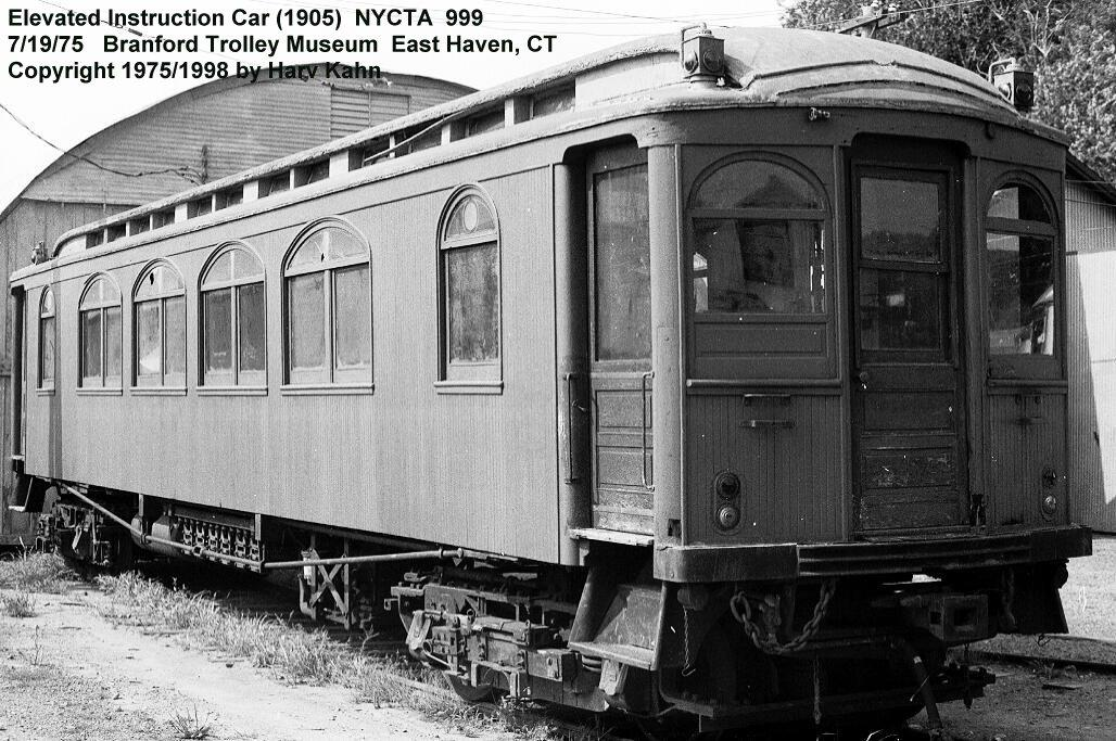 (157k, 1028x683)<br><b>Country:</b> United States<br><b>City:</b> East Haven/Branford, Ct.<br><b>System:</b> Shore Line Trolley Museum <br><b>Car:</b> BMT Elevated Gate Car 999 <br><b>Photo by:</b> Harv Kahn<br><b>Date:</b> 7/19/1975<br><b>Viewed (this week/total):</b> 0 / 2484