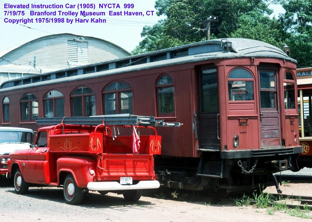 (153k, 1050x748)<br><b>Country:</b> United States<br><b>City:</b> East Haven/Branford, Ct.<br><b>System:</b> Shore Line Trolley Museum <br><b>Car:</b> BMT Elevated Gate Car 999 <br><b>Photo by:</b> Harv Kahn<br><b>Date:</b> 7/19/1975<br><b>Viewed (this week/total):</b> 0 / 3963