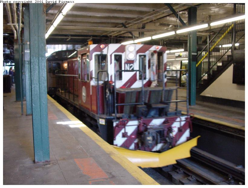(75k, 820x620)<br><b>Country:</b> United States<br><b>City:</b> New York<br><b>System:</b> New York City Transit<br><b>Line:</b> BMT West End Line<br><b>Location:</b> 9th Avenue <br><b>Route:</b> Fan Trip<br><b>Car:</b> R-47 (SBK) Locomotive  N2 <br><b>Photo by:</b> David Pirmann<br><b>Date:</b> 8/26/2001<br><b>Viewed (this week/total):</b> 5 / 3173