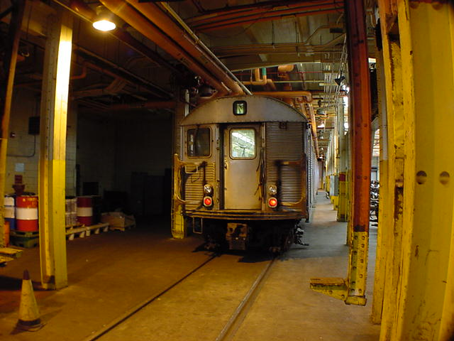 (59k, 640x480)<br><b>Country:</b> United States<br><b>City:</b> New York<br><b>System:</b> New York City Transit<br><b>Location:</b> Coney Island Shop/Overhaul & Repair Shop<br><b>Car:</b> R-32 (Budd, 1964)   <br><b>Photo by:</b> Salaam Allah<br><b>Date:</b> 10/29/2000<br><b>Viewed (this week/total):</b> 0 / 3880