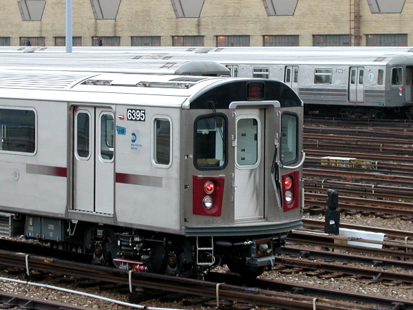 (148k, 600x450)<br><b>Country:</b> United States<br><b>City:</b> New York<br><b>System:</b> New York City Transit<br><b>Location:</b> Concourse Yard<br><b>Car:</b> R-142 (Primary Order, Bombardier, 1999-2002)  6395 <br><b>Photo by:</b> Trevor Logan<br><b>Date:</b> 12/29/2001<br><b>Viewed (this week/total):</b> 0 / 6107