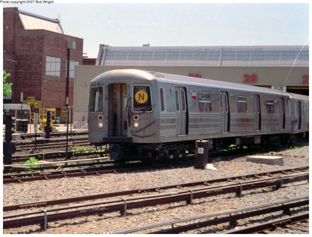 (176k, 1044x794)<br><b>Country:</b> United States<br><b>City:</b> New York<br><b>System:</b> New York City Transit<br><b>Location:</b> Coney Island Yard<br><b>Car:</b> R-68 (Westinghouse-Amrail, 1986-1988)  2898 <br><b>Photo by:</b> Bob Wright<br><b>Date:</b> 5/30/1993<br><b>Viewed (this week/total):</b> 1 / 2481