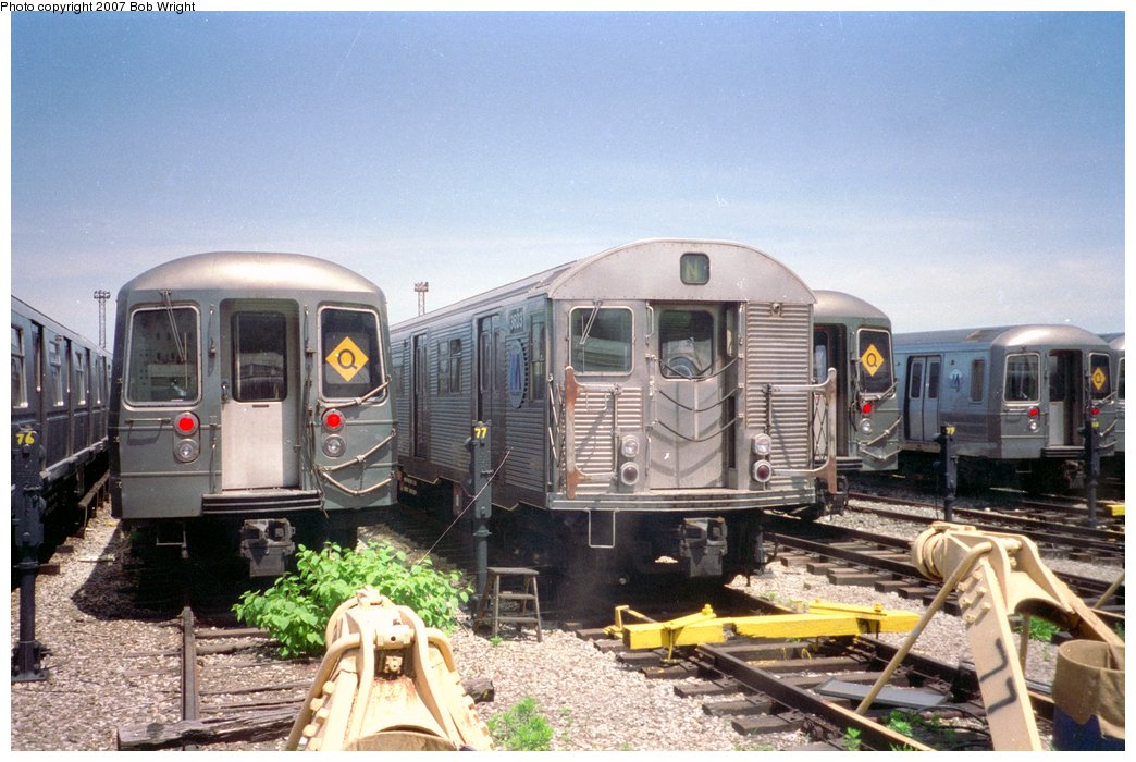 (165k, 1044x700)<br><b>Country:</b> United States<br><b>City:</b> New York<br><b>System:</b> New York City Transit<br><b>Location:</b> Coney Island Yard<br><b>Car:</b> R-32 (Budd, 1964)  3623 <br><b>Photo by:</b> Bob Wright<br><b>Date:</b> 5/30/1993<br><b>Viewed (this week/total):</b> 1 / 2865