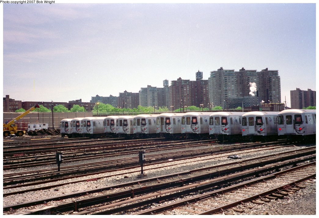 (184k, 1044x715)<br><b>Country:</b> United States<br><b>City:</b> New York<br><b>System:</b> New York City Transit<br><b>Location:</b> Coney Island Yard<br><b>Car:</b> R-46 (Pullman-Standard, 1974-75)  <br><b>Photo by:</b> Bob Wright<br><b>Date:</b> 5/30/1993<br><b>Viewed (this week/total):</b> 3 / 2289
