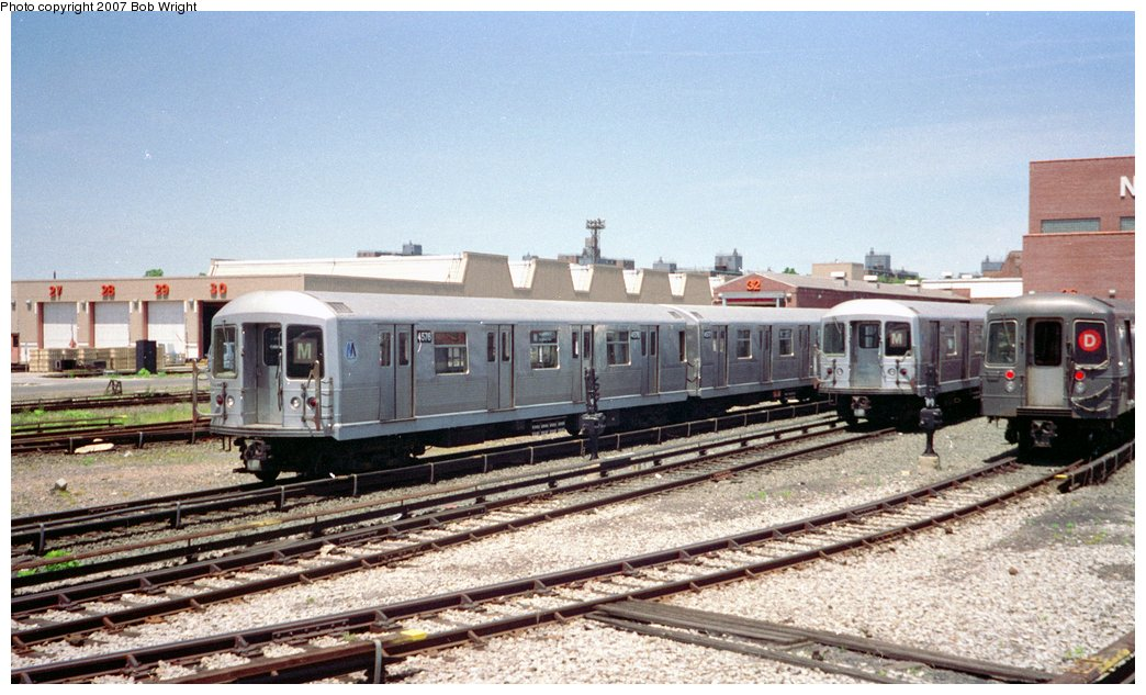 (159k, 1044x633)<br><b>Country:</b> United States<br><b>City:</b> New York<br><b>System:</b> New York City Transit<br><b>Location:</b> Coney Island Yard<br><b>Car:</b> R-42 (St. Louis, 1969-1970)  4576 <br><b>Photo by:</b> Bob Wright<br><b>Date:</b> 5/30/1993<br><b>Viewed (this week/total):</b> 3 / 1691