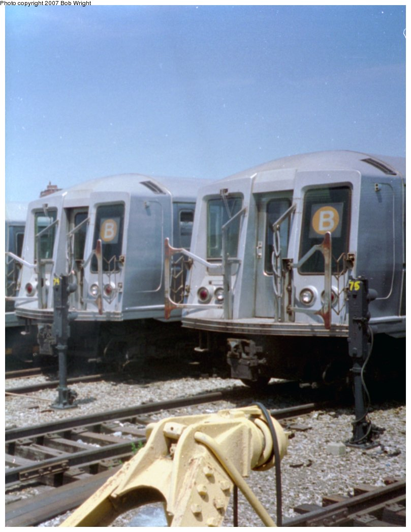 (124k, 809x1045)<br><b>Country:</b> United States<br><b>City:</b> New York<br><b>System:</b> New York City Transit<br><b>Location:</b> Coney Island Yard<br><b>Car:</b> R-40 (St. Louis, 1968)   <br><b>Photo by:</b> Bob Wright<br><b>Date:</b> 5/30/1993<br><b>Viewed (this week/total):</b> 2 / 2175